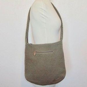 the SAK crossbody bag Green woven material